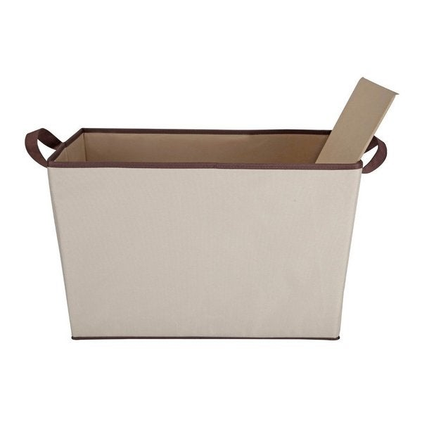 StorageManiac Foldable Storage Bin with Two Handles Durable Polyester Canvas Open Storage Basket for Clothing and Accessories