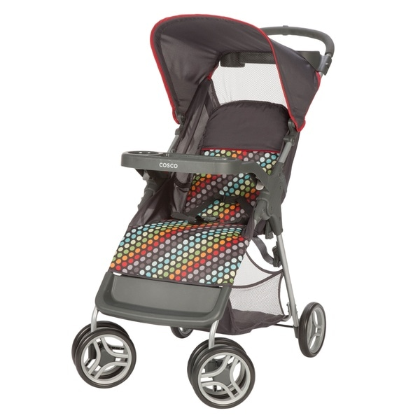 Shop Cosco Lift And Stroll Convenience Stroller In Rainbow