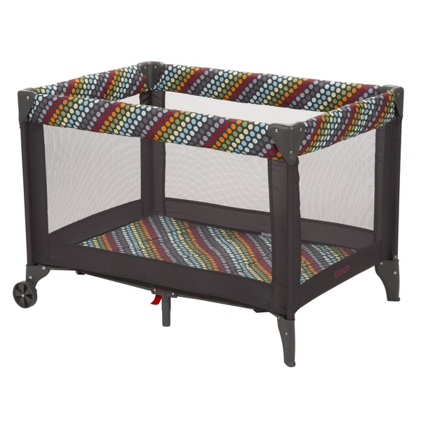 Shop Cosco Funsport Playard In Rainbow Dots Free