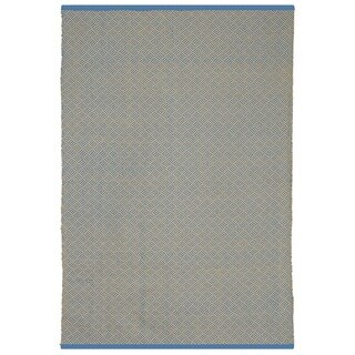Indian Karma Blue and Almond Rug (6' x 9')