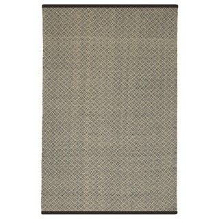 Indian Karma Brown and Almond Runner Rug (2.5' x 8')
