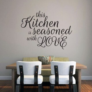 This Kitchen Is Seasoned With Love Wall Decal (36-inch x 27-inch)