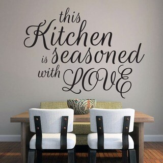 This Kitchen Is Seasoned With Love Wall Decal (48-inch x 36-inch)
