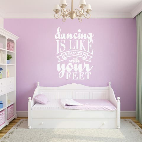 Dancing Is Like Dreaming Wall Decal (18 x 24)