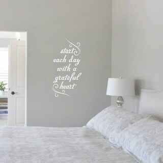 Link to Start Each Day with a Grateful Heart' 12 x 24-inch Wall Decal Similar Items in Vinyl Wall Art
