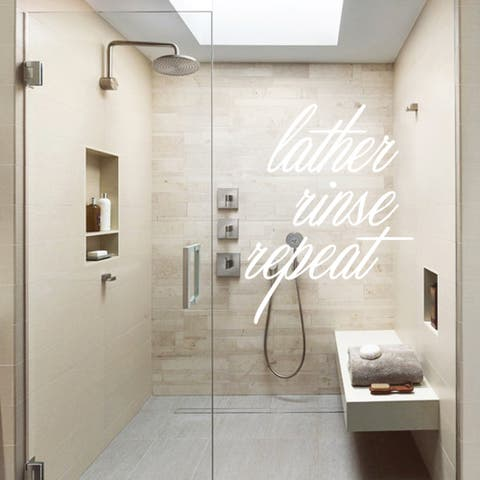 Lather, Rinse, Repeat Bathroom Decal (27 x 36)