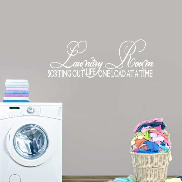 shop laundry room, sorting out life wall decal (24-inch x 7-inch