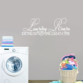 Laundry Room, Sorting Out Life Wall Decal (65-inch x 18-inch)