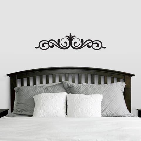 Elegant Accent Scroll Wall Decal (42-inch x 10-inch)