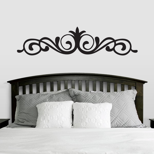 Elegant Accent Scroll Wall Decal (66-inch x 15-inch). Opens flyout.