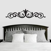 Elegant Accent Scroll Wall Decal (66-inch x 15-inch)