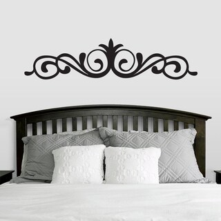 Elegant Accent Scroll Wall Decal (66-inch x 15-inch) (5 options available)