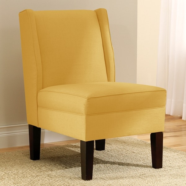 Skyline Furniture Linen French Yellow Wingback Chair Free