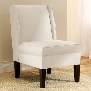 Skyline Furniture Linen Talc Wingback Chair