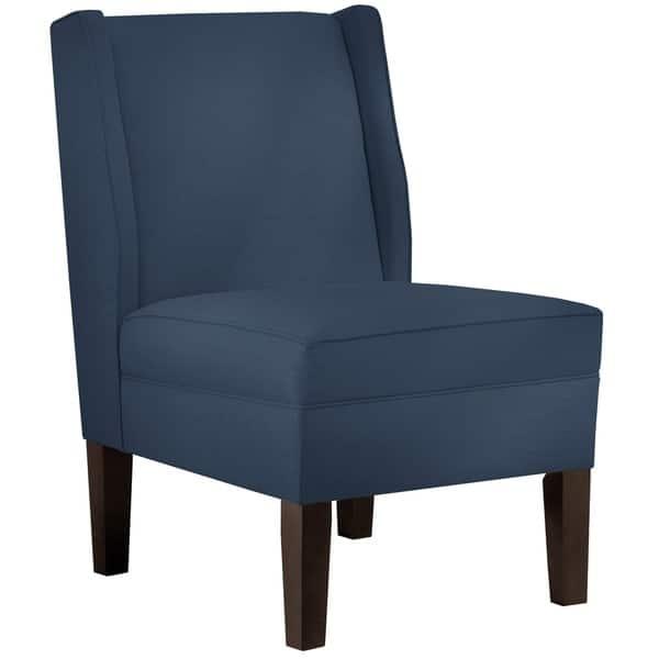 Skyline Furniture Linen Navy Wingback Chair
