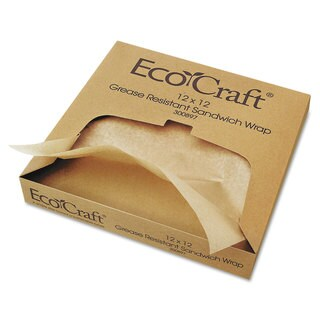 Bagcraft Papercon EcoCraft Grease-Resistant Wrap/Liners (5 Packs of 1000 Sheets)