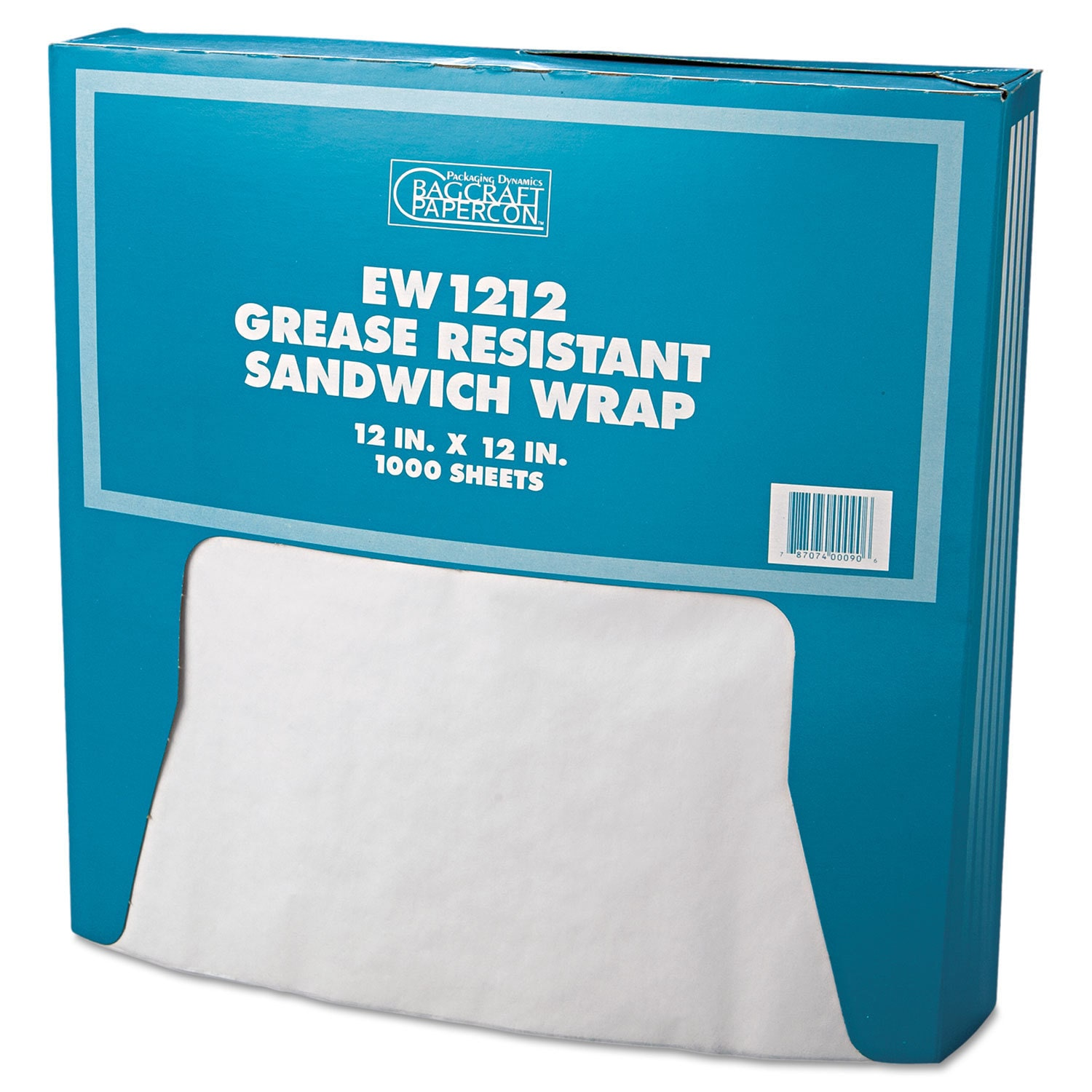 Bagcraft Papercon White Grease-Resistant Paper Wrap/Liner...