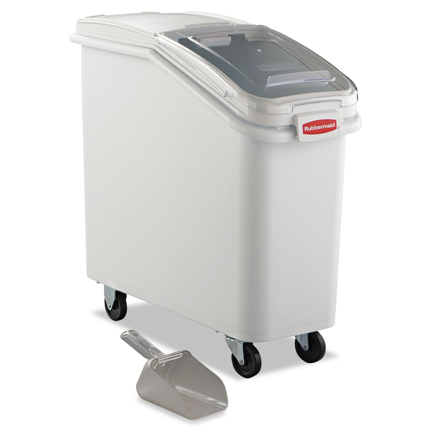 Rubbermaid Commercial ProSave White Mobile Ingredient Bin...