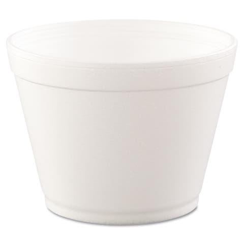 Dart Hinged-Lid White Foam Food Containers (20 Packs of 25 Containers)