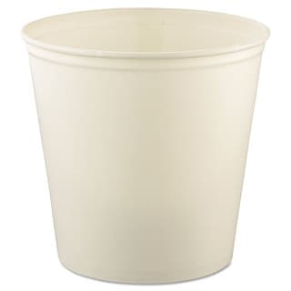 SOLO Cup Company Double Wrapped White Paper Bucket (Pack of 100)
