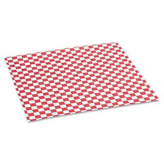 Bagcraft Papercon Red Checkered Grease-Resistant Paper Wrap/Liners (5 Boxes of 1000 Sheets)