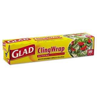 Glad Cling Clear Wrap Plastic Wrap (Pack of 12)