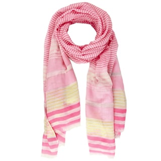 Saachi Women's Oversized Striped Patterned Scarf (China)