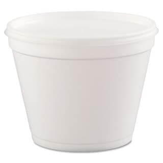 Dart White Foam Hinged-Lid Food Containers (20 Packs of 25 Containers)