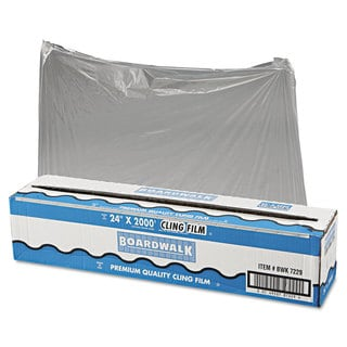 Boardwalk Clear PVC Food Wrap Film Roll