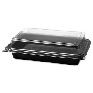 SOLO Cup Company Carryout Black/Clear Hinged Plastic Deli Boxes (Pack of 200)
