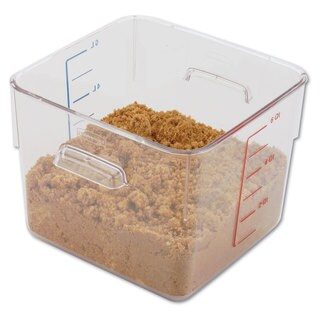 Rubbermaid Commercial Clear SpaceSaver Square Container