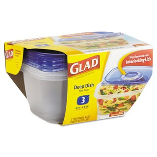 Glad GladWare Deep Dish Food Storage Containers (6 Packs of 3 Containers)