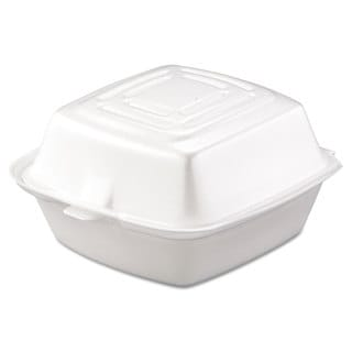 Dart Carryout White Foam Food Container (Pack of 500)