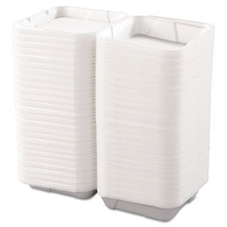 Boardwalk Snap-it White Foam Hinged Lid Containers (Pack of 200)