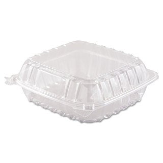 Dart ClearSeal Hinged-Lid Plastic Containers (Pack of 250)