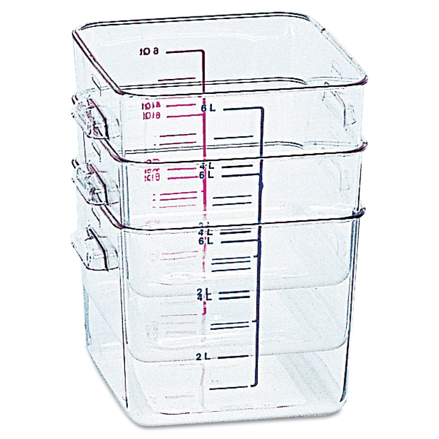Rubbermaid Commercial Clear SpaceSaver Square Container (...