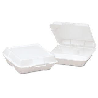 Genpak White Foam High Volume Hinged Containers (Pack of 200)