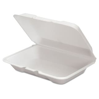 Genpak White Foam Hinged Containers (Pack of 200)