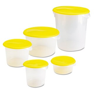 Rubbermaid Commercial Round Clear Storage Container
