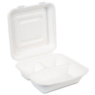 Dixie EcoSmart White Molded Fiber Food Containers (Pack of 250)