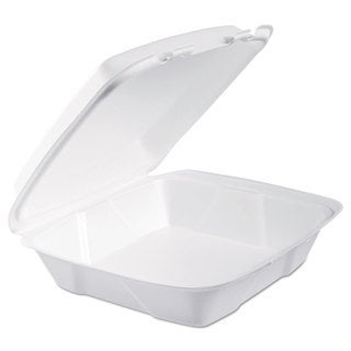 Dart White Foam Hinged Lid Containers (Pack of 200)