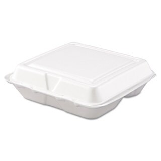 Dart Carryout White Foam Food Container (Pack of 200)