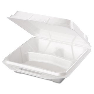 Genpak White Foam Food Containers (2 Packs of 100 Containers)