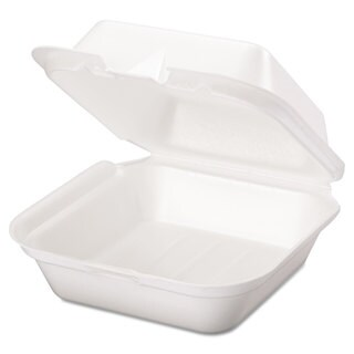 Genpak Snap It White Foam Containers (4 Packs of 100 Containers)