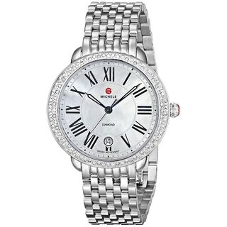 Michele Women's MWW21B000001 'Serein 16' Diamond Stainless Steel Watch