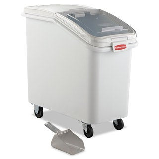 Rubbermaid Commercial ProSave Mobile White Ingredient Bin