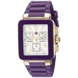 Michele Women's MWW06L000020 'Park Jelly Bean' Chronograph Purple Silicone Watch