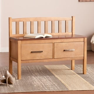 Harper Blvd Bodie Midcentury Modern Two-Drawer Storage Bench
