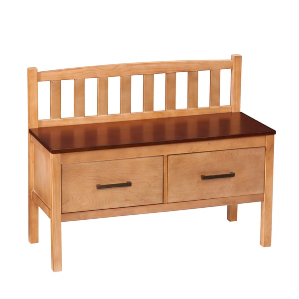 Harper Blvd Bo Midcentury Modern Two Drawer Storage Bench Free Shipping Today 17740662