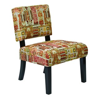 OSP Home Furnishings Jasmine Accent Chair with Solid Wood Legs